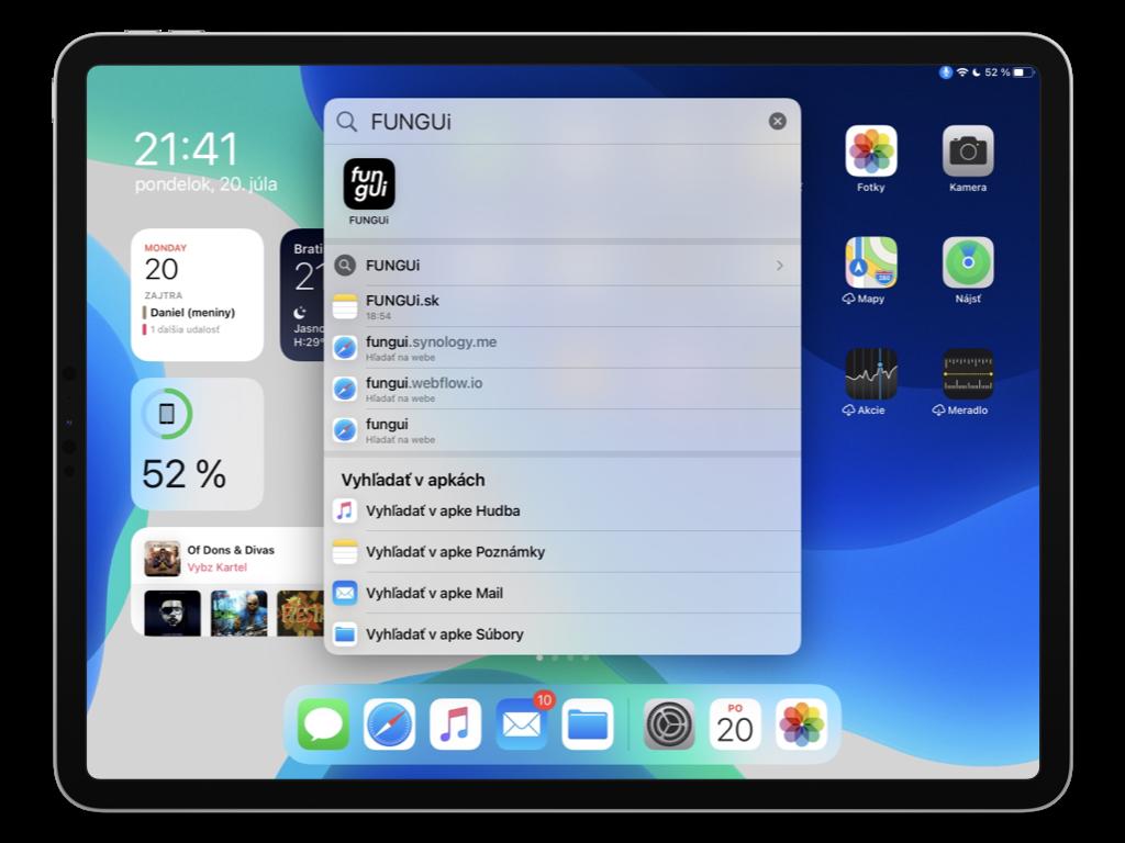 Univerzálne vyhľadávanie v iPadOS